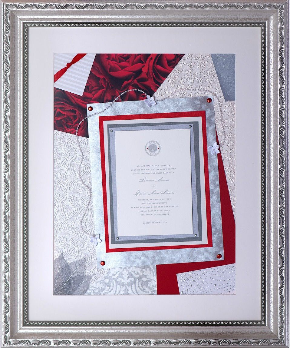 wedding keepsake, celebration keepsake, framed invitation, framed invitation keepsake